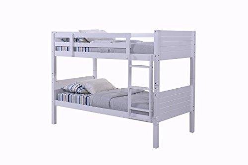 Heartlands Furnitures Milano Single 3'0 Ft Pine Bunk Bed (2 Single oxford Mattresses)