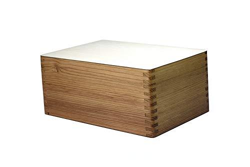 ROOGU Schachkiste Holz Aufbewahrungsbox für Schach Figuren bis ca. 4'' KH