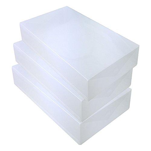 DYNASUN 3X PP436 Schuhbox Schuhkasten Lagerkasten Box Schuhschachtel für Aufbewahrung Stiefel Faltbare Halter für Damen und Herren