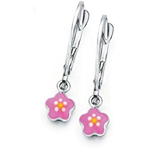 NAIOMY PRINCESS - Orecchini d'argento e PD023 lacca fiore