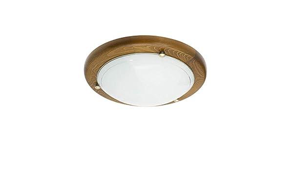 Plafoniere Con Bordo In Legno : Vetrineinrete plafoniera da soffitto in legno noce e vetro