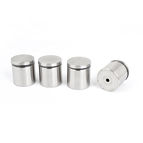 Stainless Steel Advertising Nail Class Standoff 38mm x 40mm 4 Pcs