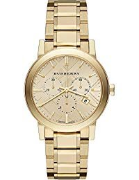 Sale! Authentic Burberry Luxury Gold 2014 Womens Unisex Men The City Chronograph Watch BU9753