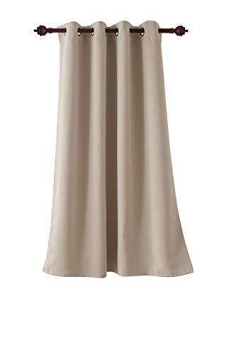 Deconovo tenda oscurante termica per interni tenda oscurante con occhielli 100% poliestere 140x180 cm beige