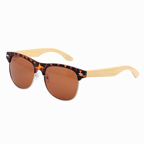 GSSTYJ Sonnenbrille UV-Schutz, UV400 PC Polarisationsbrille Half Frame Männer und Frauen Urlaub und Alltagskleidung/Als Geschenke für Freunde und Verwandte (Farbe : Tortoise Shell)