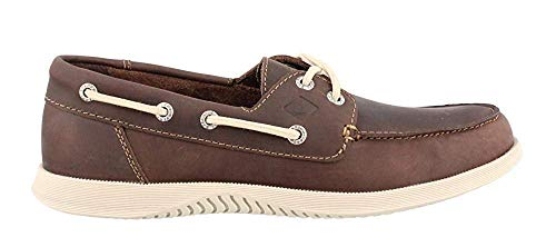 Sperry Men's, Defender 2 Eye Boat Shoe Dark Brown 7 M Eye Moc
