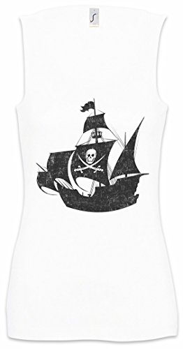 Pirate Ship Damen Frauen Tank Top Shirt Größen S - XL