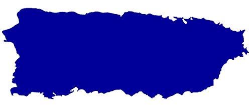 Samunshi® Puerto Rico Insel Aufkleber Autoaufkleber in 8 Größen und 25 Farben (20x7,4cm brillantblau) (Bilder Von Puerto Rico)