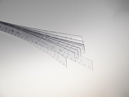 Renz Abheftstreifen in 2:1 Teilung Drahtkammbindung für DIN A4, 3,5 x 5,5 mm, Stärke 0.3 mm, transparent klar