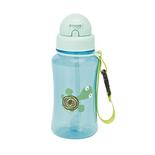 flasche mit Strohhalm, Wildlife Turtle (Trinkflaschen Für Kinder)