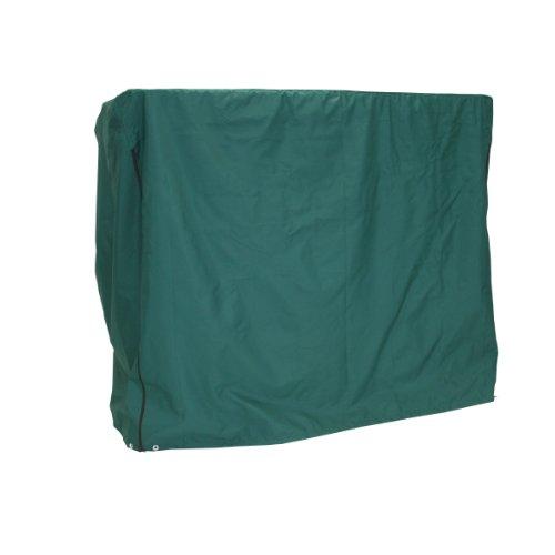 greemotion Schutzhülle für Hollywoodschaukel grün, wasserabweisende Schutzplane für Gartenbänke, Wetterschutzplane aus strapazierfähigem Polyester