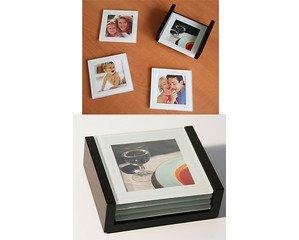 Foto Untersetzer 4er Set aus Glas Tischuntersetzer Bilder