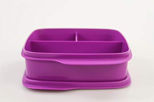 Tupperware to Go Lunchbox 550 ml lila Trennwand Brotbox clevere Pause 34629