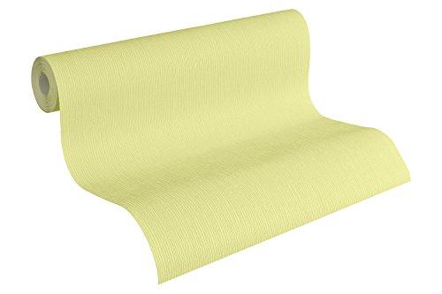 Brigitte Home Vliestapete, Uni-, Strukturtapete, gelb / grün, 941746