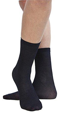 Dolci srl Einweg-Baumwollsocke für Schuh-Test oder für Sicherheitsschuhe (Schwarz)
