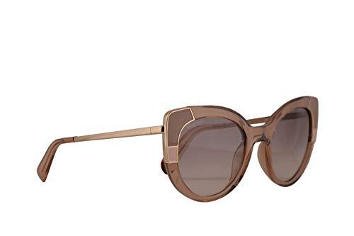 Salvatore ferragamo donne sf890s occhiali da sole w/lenti grigie 52mm 290 sf anni 890 cristallo nude grande