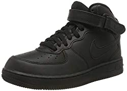 Nike Jungen Force 1 MID (PS) Basketballschuhe, Schwarz (Black/Black 004), 35 EU