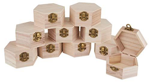 VBS Tolle sechseckige Holzschatullen mit Verschluß