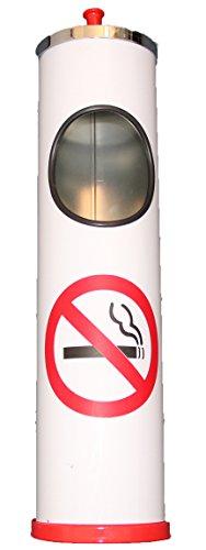 nbecher Verbotsschild Nichtraucher Zeichen rot weiß Metall Aschenbecher (Nichtraucher Aschenbecher)