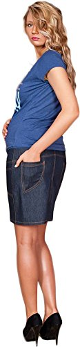 Mija - UmstandsRock mit Bauchband / sportlich Denim Jeans 9060 Dunkelblau