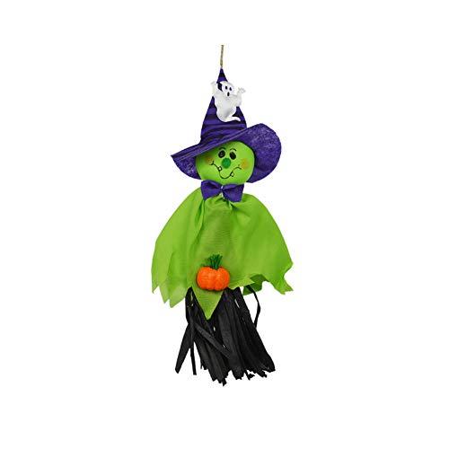 Halloween Deko Grusel Dekoration Set Halloween Kindergarten KTV Stroh Ghost Dekoration Grün 1 Pack für Halloweendeko Make-up-Party Halloween Dekoration