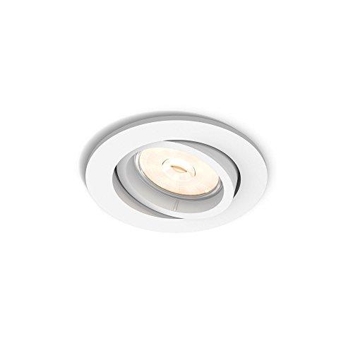 Philips Lighting Enneper Faretto da Incasso, Attacco GU10, Bianco