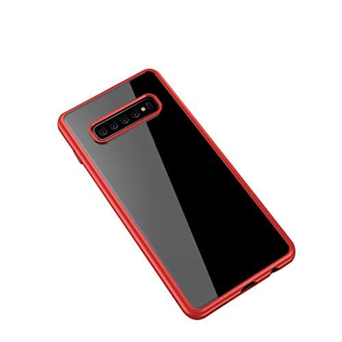 Das beste Zubehör für Samsung Galaxy S10 !!! Beisoug 6,4 zoll kohlefaser transparent silikon gel wasserdicht stoßfest tpu weichgummi schutzhülle abdeckung (Generation 5. Ipod-wasser-fall)