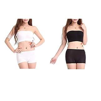 8be456b94f ALBATROZ Women s Girl s Bra Panty Set Free Size Non Padded Tube Bra and  Boyshort Panty Set