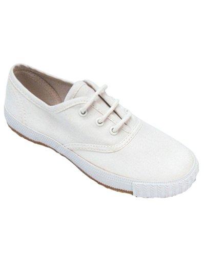 Mirak 204/Asg14 À Lacets Plimsolls Unisexe Trainers Textile Nouveau white
