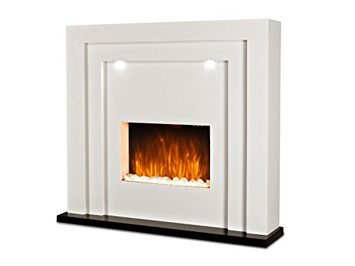 Livinxs® Elektrokamin Casablanca | 2000 Watt Heizleistung | Kamin mit Flammeneffekt und LED Beleuchtung | Kaminfeuer inkl. Heizlüfter