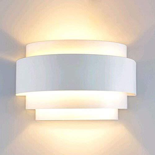 FUSKANG Applique da parete a LED moderna su e giù da parete Brilliant E27 ideale per soggiorno Corridoio Camera da letto luminosa calda parete bianca Lanterna