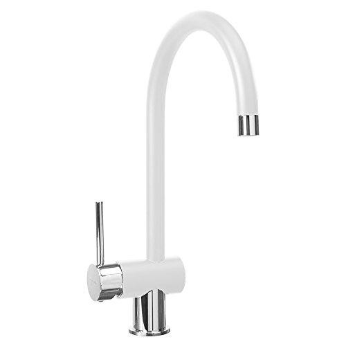 TELMA newmix20-bianco Milch Mixer für Küche, 34x 18x 5cm, Milch - Küchenarmatur Delta Hole Single