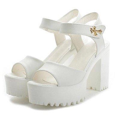 LvYuan Da donna Sandali Comoda Pelle Primavera Casual Comoda Bianco Argento Piatto Silver