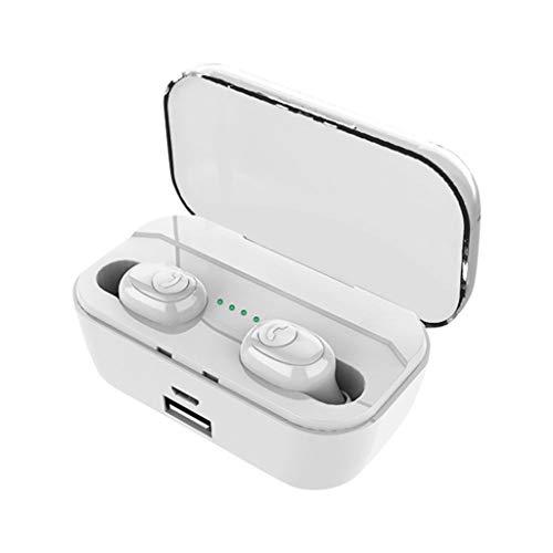 CAOQAO HiFi Wireless Blueteeth 5.0 Casque, ÉCouteurs Sport Jumeaux Oreille StéRéO, ÉCouteur Portable Profitez De Voyager, ÉCouteurs Intra Auriculaires, éCouteurs Bluetooth