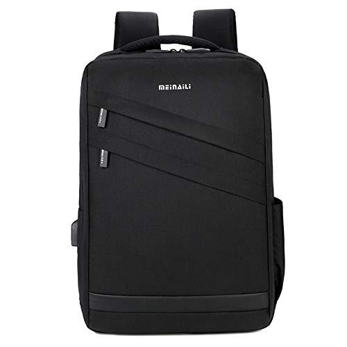 Business Laptop Rucksack Mit USB Ladeschnittstelle, DREI Farben Können Mit 15.6 Notebook Geladen Werden,Black