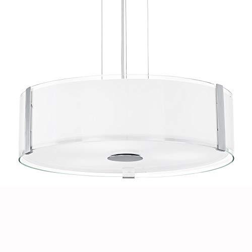 Eglo Varano BlancoVidrioAceroE2760w180w De Iluminación SuspensióncromoColor kZuOXPiT