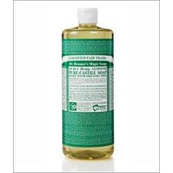 Dr Bronner Almond Castile Liquid Soap 1000ml -