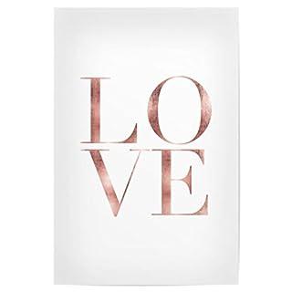 artboxONE Poster 30x20 cm Liebe Love Rose Gold Hochwertiger Design Kunstdruck - Bild Liebe von Planeta444