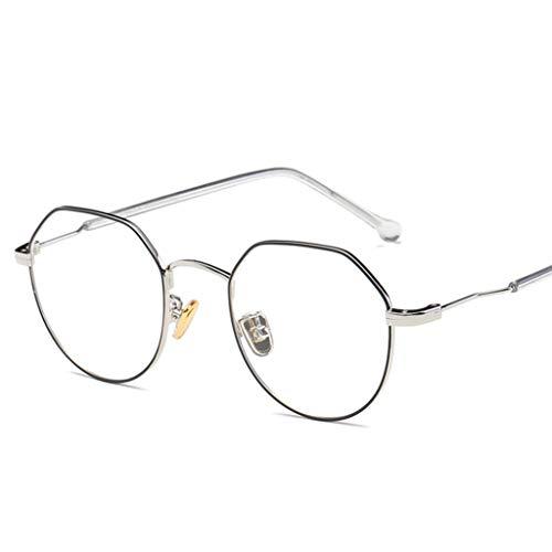 ZYY Anti Blue Light Brillen , Nicht Verschreibungspflichtige Polygonale Unregelmäßige Brillengestell , Augenschutz , Unisex (Farbe : D)