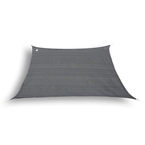 hanSe® Marken Sonnensegel Sonnenschutz Segel Trapez 3 / 4 x 2m, Farbe: Graphit