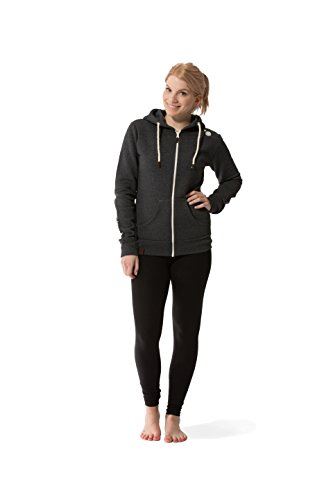 JUMPSTER Sweatjacke EXQUISITE Damen & Herren Zip-Hoodie mit Kapuze, extra weicher Kapuzenpullover MADE IN EU (slim / regular) Exquisite Black