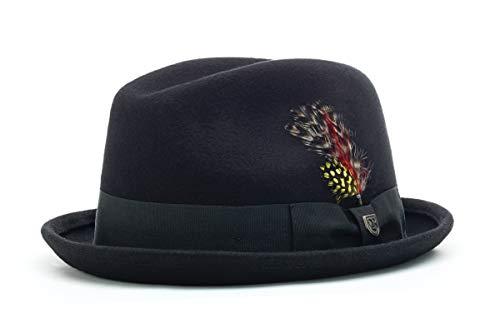 Brixton Hat GAIN  black felt, M BRIMHATGAI Filz Rock
