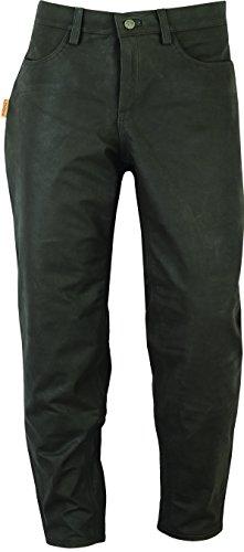 """""""Fuente"""" Chasse Pantalon cuir Homme Femme bottes- pantalon chasseur Homme Femme - militaire- Lederhose Nubuk-Vert Marron"""