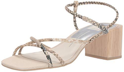 Dolce Vita-gladiator-sandalen (Dolce Vita Damen Zayla Sandalen mit Absatz, Snake Print Embossed Leather, 36 EU)