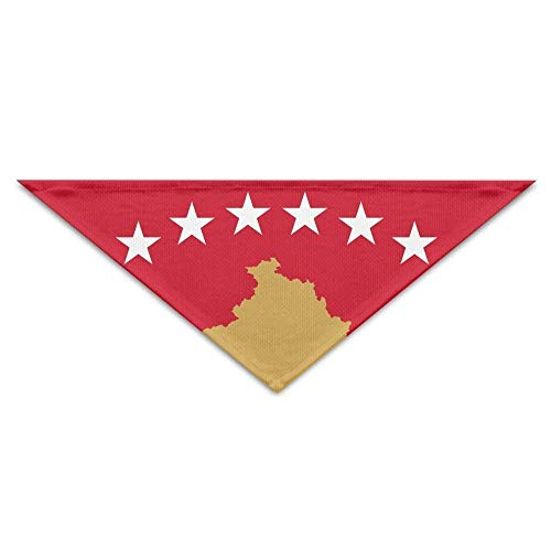 deyhfef Kos Albania Flag Dog Bandanas Scarves Bibs Scarfs Stylish Basic Dogs Neckerchief Cat Collars Pet Costume ()