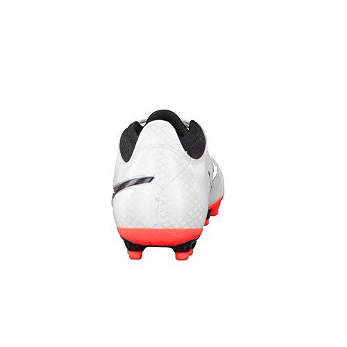 Puma Herren One 17.4 Ag Fußballschuhe Weiß (White-Black-Fiery Coral)