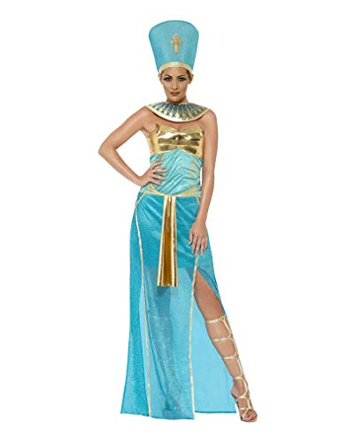 Nofretete Kostüm Königin - Horror-Shop Ägyptische Pharaonin Nofretete Kostüm M