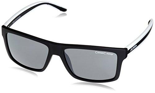 ALPINA Sonnenbrille Sport Style Lenyo Outdoorsport-Brille, Black Matt-White, One Size