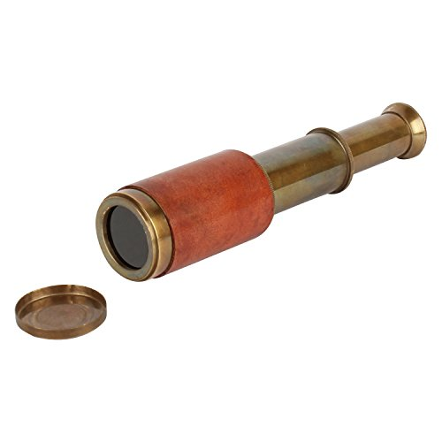 Artshai Pure brass Antique Look Pocket Telescope with Genuine Leather  available at amazon for Rs.349
