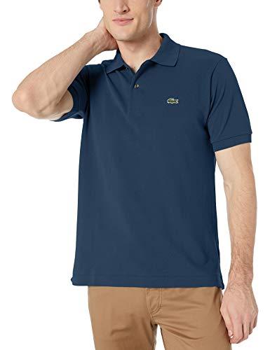 Lacoste Herren Regular Fit Poloshirt L1212 Einfarbig, Blau (Marine), L (Herstellergröße: 5)
